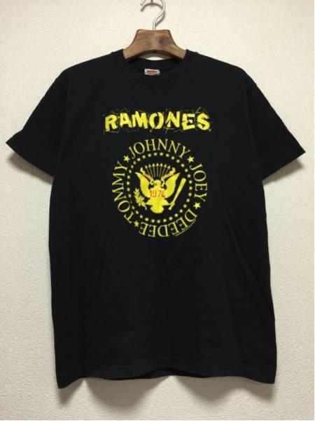 [即決古着]RAMONES/ラモーンズ/ロゴTシャツ/バンドT/半袖/黒/ブラック/M