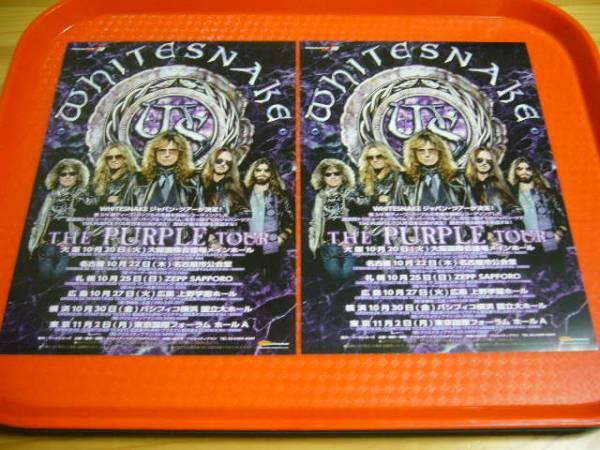 Whitesnake ホワイトスネイク2015年来日公演チラシ2枚☆即決