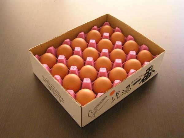 送料込み(北海道・東北を除く) 贈り物に最適!! ネッカリッチ赤卵「児湯一番」 限定20箱/日 3箱60個入_画像2