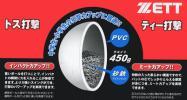 砂鉄入りトレーニングボール/ゼット/野球/450g/6ケ/4200円