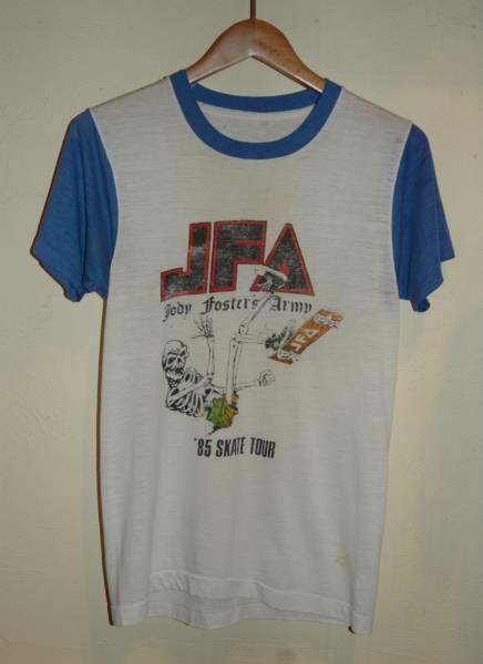 ユーズド JFA JODY FOSTER'S ARMY 85' SKATE TOUR Tシャツ
