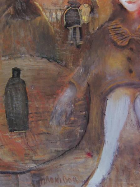 織田廣喜、サン・ドニの少女、限定200部・希少画集画、新品額付、絵画 送料無料_画像2
