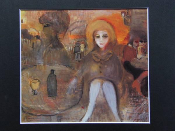 織田廣喜、サン・ドニの少女、限定200部・希少画集画、新品額付、絵画 送料無料_画像1