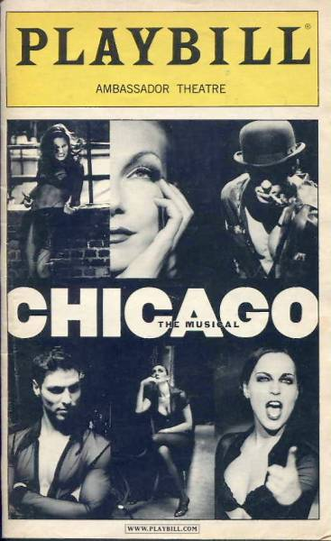 【PLAYBILL】 CHICAGO (AMBASSADOR THEATRE)