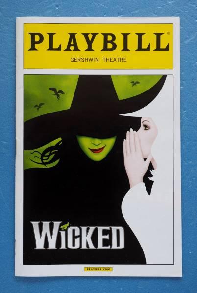 WICKED ウィキッド NYガーシュイン劇場 プログラム PLAYBILL ※即決価格設定あり
