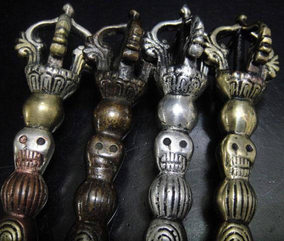 ◆チベット密教法具カルタリ(曲刀)4色セット1