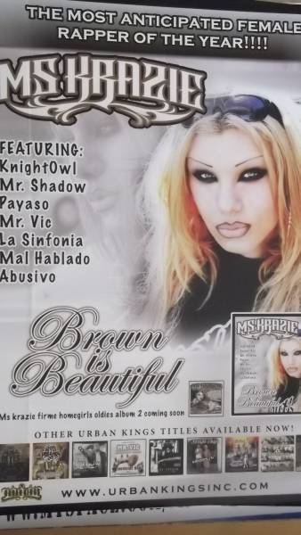 ☆Ms Krazie Brown is Beautiful デビュ-アルバムのポスター