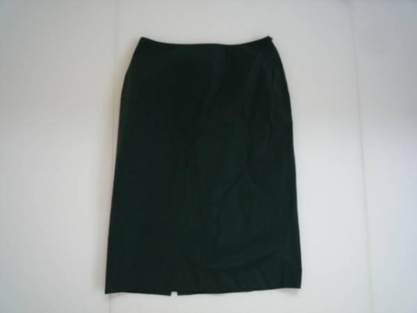 【良品!!】◆STRAWBERRY-FIELDS◆ 台形スカート 膝丈 緑 2 無地