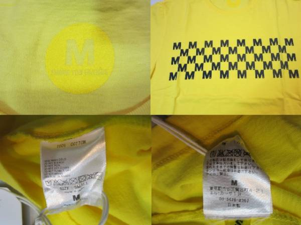 新品 M エム Tシャツ S 黄_画像3