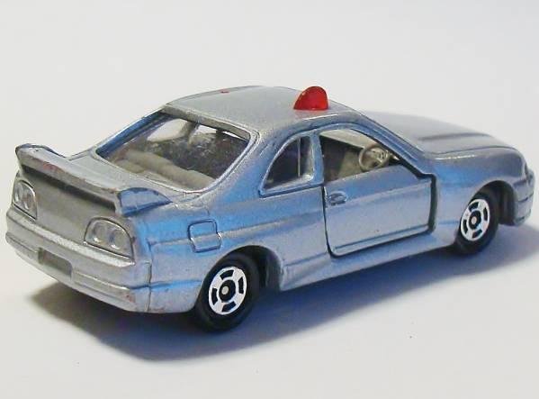 i2★トミカミニカー 日産スカイラインGT-R R33 覆面パトカー銀20_画像2