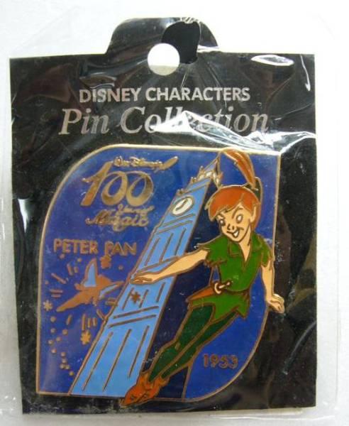 ディズニー 100周年ピンバッジ ピーターパン 未開封 ディズニーグッズの画像