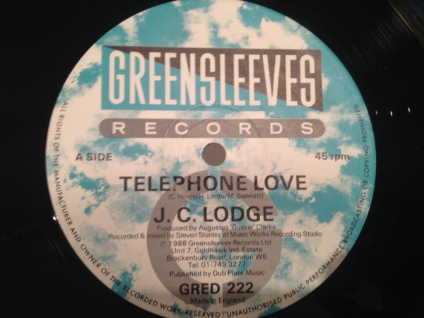 ■J.C. Lodge/Telephone Love■人気ダンスホール!!