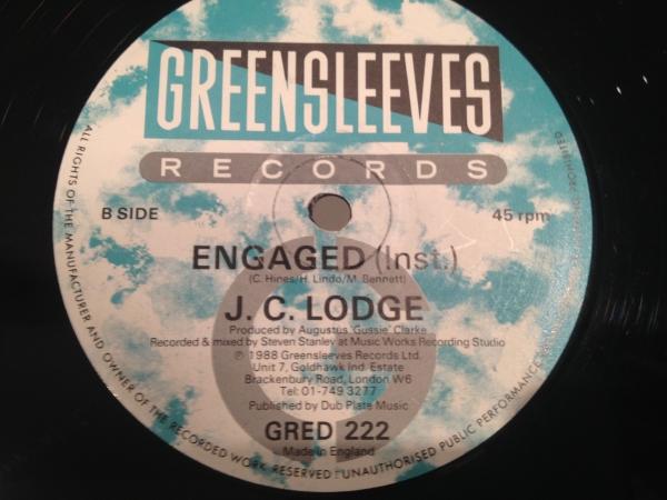 ■J.C. Lodge/Telephone Love■人気ダンスホール!!_画像2