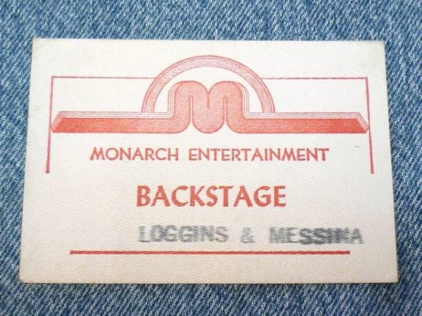 kenny Loggins & Jim Messina/ロギンス&メッシーナ バックステージパス-70's