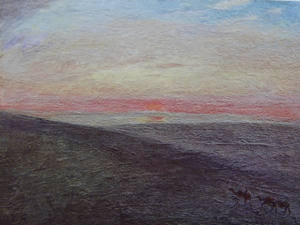 藤島 武二、蒙古の日の出、希少画集画、新品額付、絵画 送料無料
