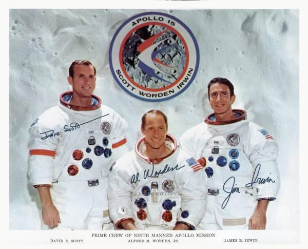 1971年 APOLLO 15 PRIME CREW アポロ15号 サイン フォト