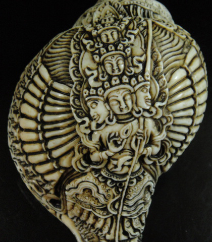 チベット密教法具法螺貝(シャンカ)白傘蓋仏頂シタータパトロ