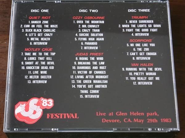 ★3CD!VAN HALEN/ヴァン・ヘイレン参加!THE US FESTIVAL '83_画像2