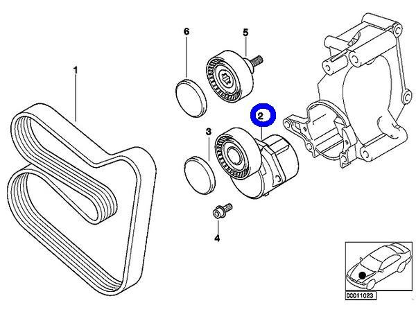 BMW INA製 ベルトテンショナー 1128-1432-104/E46 3シリーズ_画像2