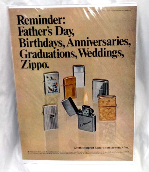 希少!LIFE誌切り抜き★ ZIPPO ジッポーライターの広告 1950年代★ビンテージ雑誌ライフ切抜き