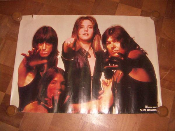 ●即決!ポスター:Suzi Quatro スージー・クアトロ:Rock Now '74:EMI:Odeon