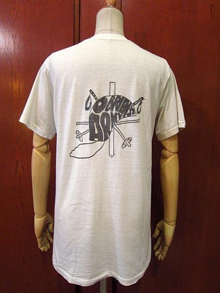 ビンテージ70's★U.S.ARMYバックプリントTシャツ★60's80's古着ミリタリーコットン_画像1