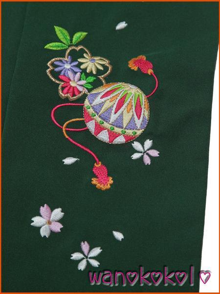 【和のこころキッズ】七五三・卒園式に◇七歳用刺繍袴・古典柄G_画像2