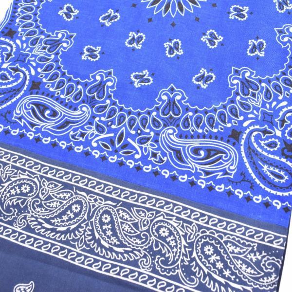 【一点物・ビームス限定】新品 THE KHAKI ザ カーキ ヴィンテージリメイク BANDANA STOLE バンダナストール ブルー/ネイビー_画像6