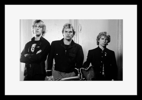 BW:人気ロックバンド!ポリス/The Police/モノクロ写真フレーム-3