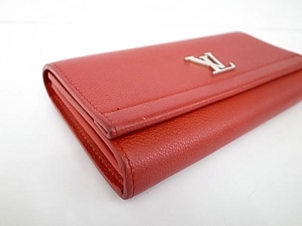 7253T【本物保証】 ルイ・ヴィトン ポルトフォイユロックミー2 M62326 二つ折り長財布 レザー 赤 美品_画像2