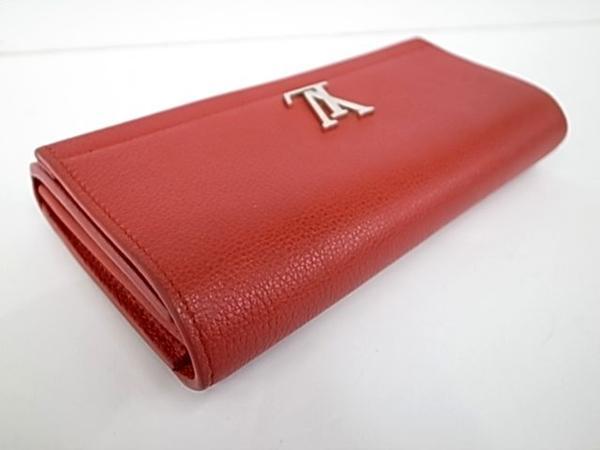 7253T【本物保証】 ルイ・ヴィトン ポルトフォイユロックミー2 M62326 二つ折り長財布 レザー 赤 美品_画像3