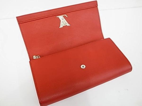 7253T【本物保証】 ルイ・ヴィトン ポルトフォイユロックミー2 M62326 二つ折り長財布 レザー 赤 美品_画像5