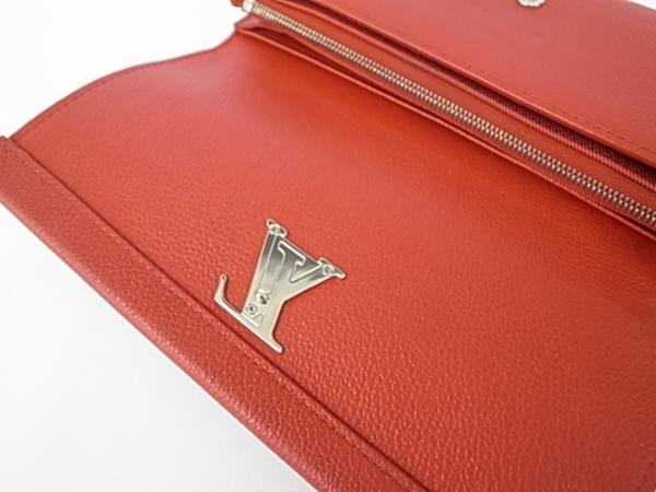7253T【本物保証】 ルイ・ヴィトン ポルトフォイユロックミー2 M62326 二つ折り長財布 レザー 赤 美品_画像6