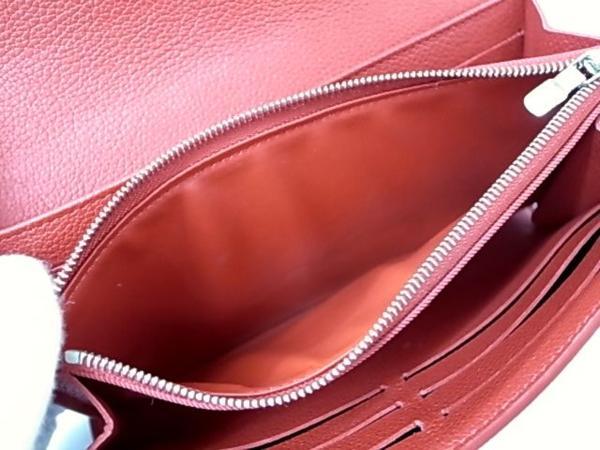 7253T【本物保証】 ルイ・ヴィトン ポルトフォイユロックミー2 M62326 二つ折り長財布 レザー 赤 美品_画像8