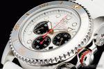 1円 ホワイト&ブラック 上級ソーラー ダイバー 200m防水【回転(逆回転防止)ベゼル】クロノグラフ 腕時計