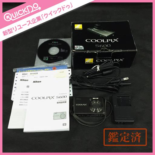1円 ニコン Nikon コンパクト デジタルカメラ COOLPIX S600 シルバー系 付属品付き 動作確認済み