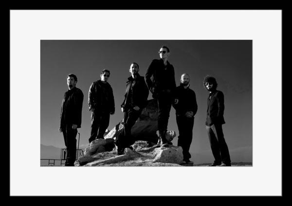 BW:人気ロックバンド!リンキン・パーク/Linkin Park/モノクロ写真フレームマット付-16