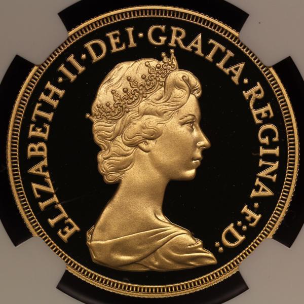 最落なし売り切り!イギリス エリザベス5ポンド 金貨 特年1982 PF69UC 最希少限定2500枚