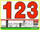 【即決】お試しプライスAS-15(ボード5枚、数字15枚)A