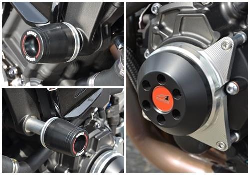 AGRAS(アグラス) MT-10(SP) 17~ レーシングスライダー 3点セット! フレームタイプ+ジェネレータータイプ_3点セットです!