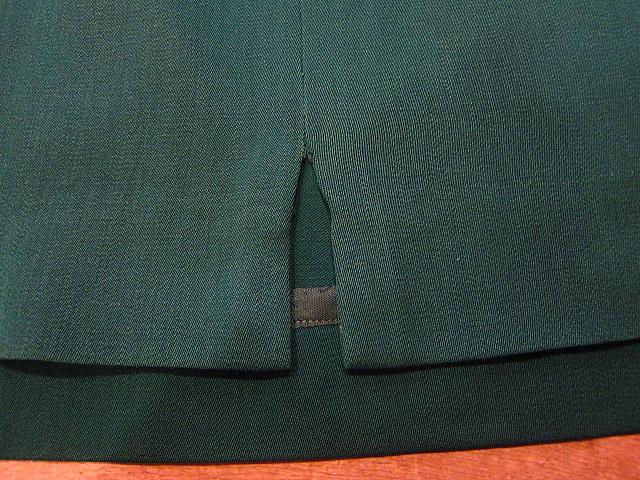 ビンテージ40's★George'sレディースギャバジンジャケット&スカート ツーピース深緑★30's50's古着屋卸フォーマルスーツレトロ_画像9