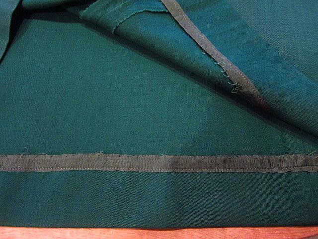 ビンテージ40's★George'sレディースギャバジンジャケット&スカート ツーピース深緑★30's50's古着屋卸フォーマルスーツレトロ_画像10