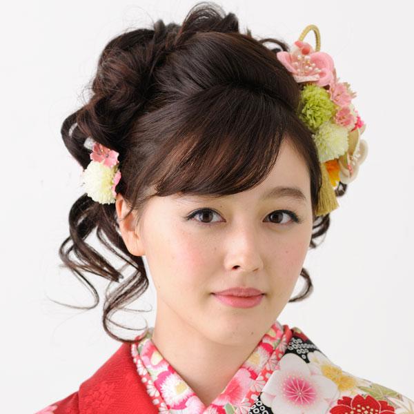 髪飾り 1コー ム&1ピン 手染め加工 はなまい新品 (株)安田屋_画像2