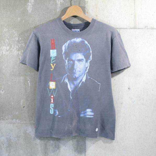 80sヒューイルイスビンテージロックTシャツ★80's90'sSサイズ