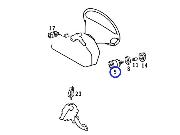 KOSTAL製 ヘッドライトスイッチ新品/W126 Sクラス 300SE 420SEL_画像3