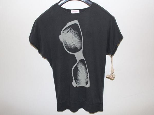キャメロンハワイ Cameron Hawaii レディース半袖Tシャツ ブラック Sサイズ 新品_画像1