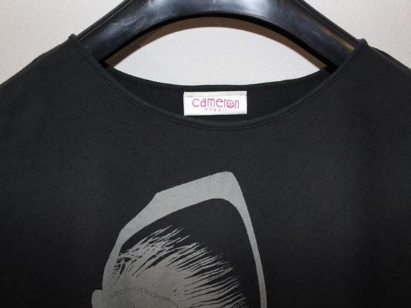 キャメロンハワイ Cameron Hawaii レディース半袖Tシャツ ブラック Sサイズ 新品_画像3