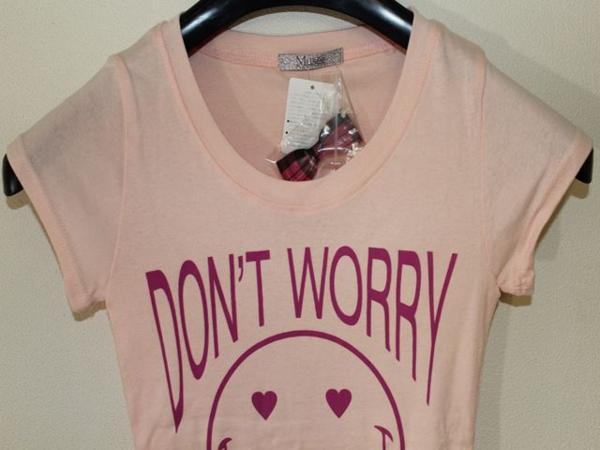 フロムファースト FROM FIRST musee レディーススマイル半袖Tシャツ ピンク 新品_画像2