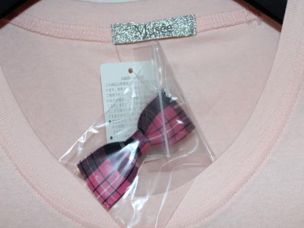 フロムファースト FROM FIRST musee レディーススマイル半袖Tシャツ ピンク 新品_画像4