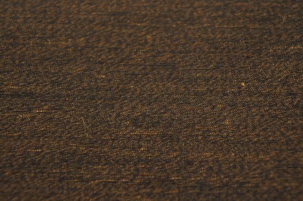 『お花ちゃんの店』焦げ茶色本場杢結城紬疋反物証紙付T4091_焦げ茶色本場杢結城紬疋反物証紙付